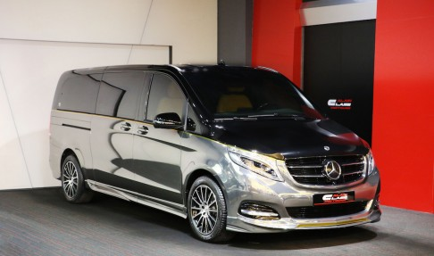 Mercedes-Benz V-Class – Tan/Black with Carbon Fiber