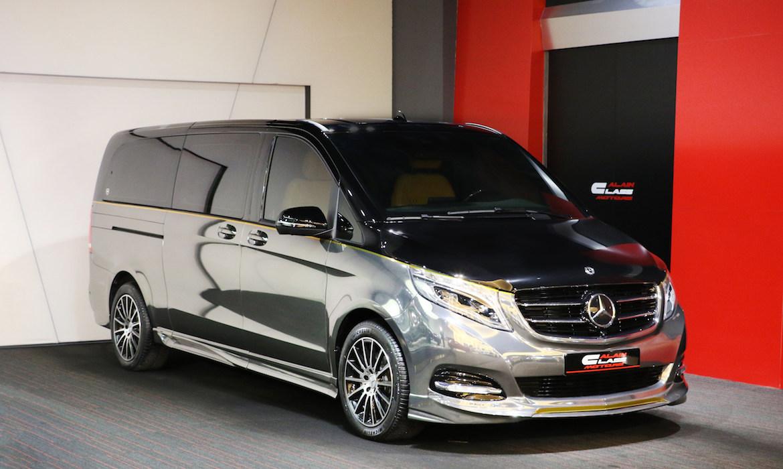 Mercedes-Benz V-Class – Tan/Black with Carbon Fiber